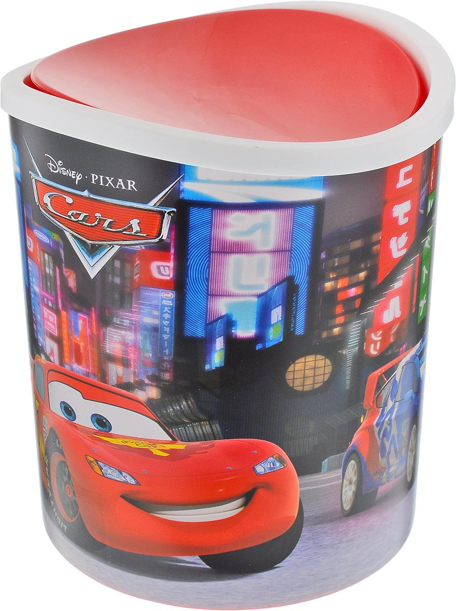 Контейнер для мусора Idea Disney. Тачки, настольный, 1,6 л391602Контейнер для мусора Idea Disney. Тачки изготовлен из прочного пластика. Такой аксессуар очень удобен в использовании. Контейнер снабжен удобной поворачивающейся крышкой, которая при необходимости легко снимается. Стильный дизайн сделает его прекрасным украшением интерьера детской комнаты.