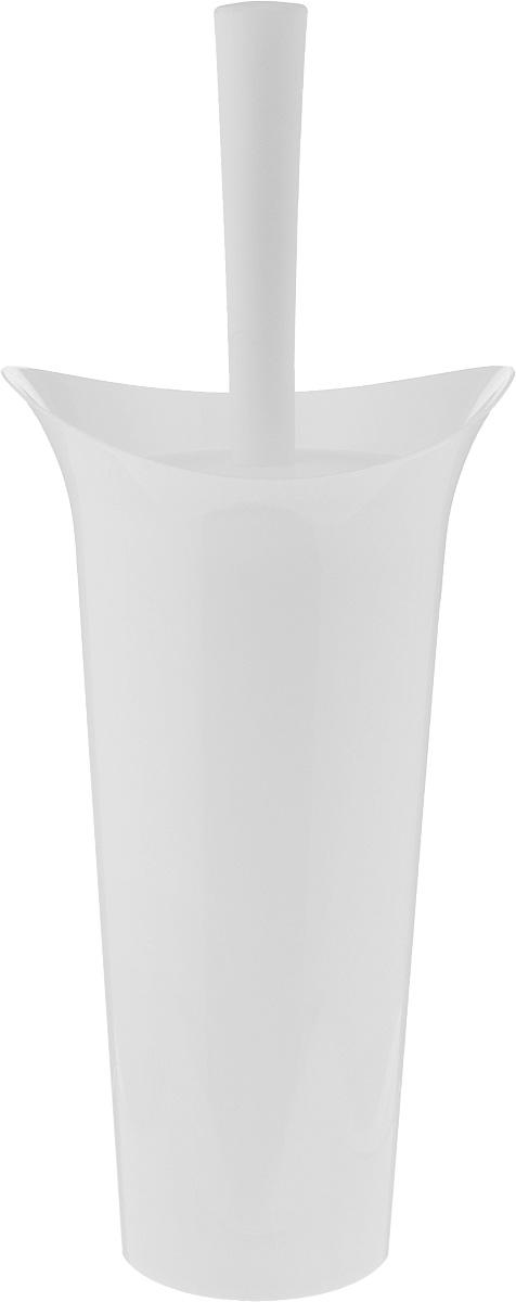 Ершик для унитаза Idea Лотос, с подставкой, цвет: белый, высота 36 смPH6529Ершик для унитаза Idea Лотос выполнен из пластика с жестким ворсом. Он хранится в специальной подставке, а также оснащен крышкой, которая плотно прилегает к подставке. Ерш отлично чистит поверхность, а грязь с него легко смывается водой.Стильный дизайн изделия притягивает взгляд и прекрасно подойдет к интерьеру туалетной комнаты.Длина ершика (с ручкой): 36 см. Размер рабочей части ершика: 7 х 7 х 8 см.Размер подставки: 12,5 х 15 х 27 см.