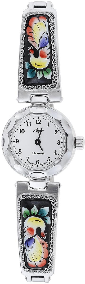 Часы наручные женские Луч, цвет: серебристый, черный, мультиколор. 81371514BM8434-58AEНаручные женские часы Луч оснащены пружинным механизмом. Корпус часов изготовлен из металла с хромовым покрытием. Циферблат круглой формы оснащен арабскими цифрам, отметками и двумя стрелками - часовой и минутной. Защищен циферблат органическим стеклом. Ремешок выполнен из металла с расписными вставками и дополнен удобным складным замком, который позволяет легко снимать и надевать часы без лишних усилий. Часы Луч подчеркнут изящность женской руки и отменное чувство стиля у их обладательницы.