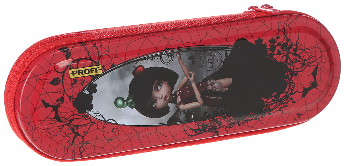Proff Пенал Lila72523WDПрочный пенал Proff Lila надежно сохранит школьные пишущие принадлежности. Он выполнен из тонкого металла и оформлен ярким принтом. Пенал содержит одно отделение и закрывается на молнию. В нем можно хранить ручки, ножницы, точилки, карандаши, личные вещи и многое другое. Стильный оригинальный дизайн подарит обладателю пенала отличное настроение.