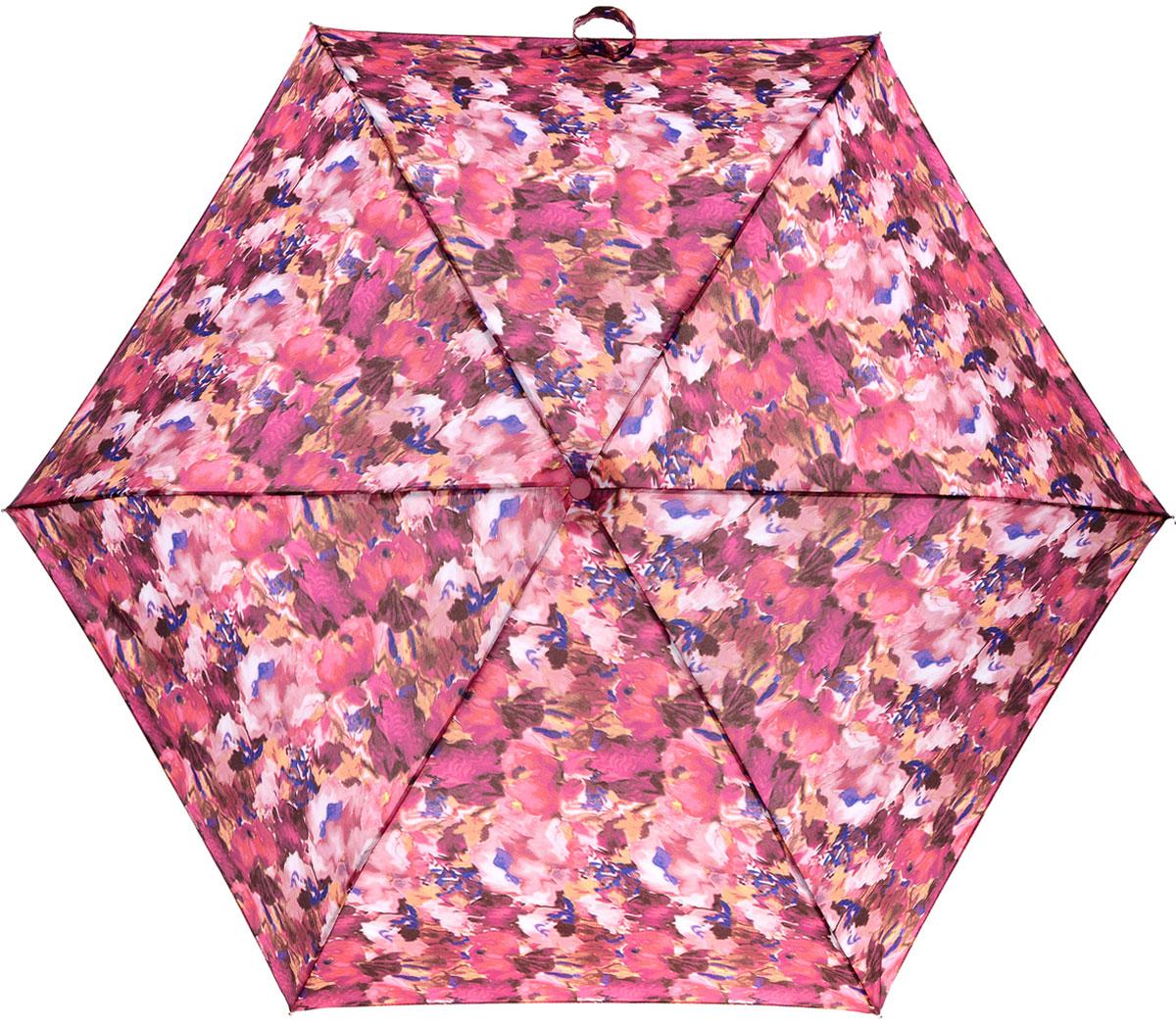 Зонт женский Fulton Superslim, механический, 3 сложения, цвет: мультиколор. L553-2934П250070003-9Стильный механический зонт Fulton Superslim в 3 сложения даже в ненастную погоду позволит вам оставаться элегантной. Облегченный каркас зонта выполнен из 6 спиц из фибергласса и алюминия, стержень также изготовлен из алюминия, удобная рукоятка - из пластика. Купол зонта выполнен из прочного полиэстера. В закрытом виде застегивается хлястиком на липучке. Яркий оригинальный принт поднимет настроение в дождливый день.Зонт механического сложения: купол открывается и закрывается вручную до характерного щелчка.На рукоятке для удобства есть небольшой шнурок, позволяющий надеть зонт на руку тогда, когда это будет необходимо. К зонту прилагается чехол, который застегивается на липучку. Чехол оформлен металлическим элементом с названием бренда. Такой зонт компактно располагается в кармане, сумочке, дверке автомобиля.