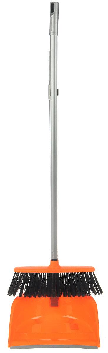 Набор для уборки Idea Ленивка. Люкс, цвет: оранжевый, серый, 2 предметаDW90Набор для уборки Idea Ленивка. Люкс состоит из совка и щетки, изготовленных из высококачественного пластика. Вместительный совок удерживает собранный мусор и позволяет эффективно и быстро совершать уборку в любом помещении. Сглаженный край совка обеспечивает наиболее плотное прилегание к полу. Щетка имеет удобную форму, позволяющую вымести мусор даже из труднодоступных мест. Совок и щетка оснащены длинными ручками с отверстиями для подвешивания. С набором Idea Ленивка. Люкс уборка станет легче и приятнее.Общая длина щетки: 81 см.Ширина рабочей части щетки: 25 см.Длина совка: 80 см.Размер рабочей части совка: 25,5 х 25 х 10 см.