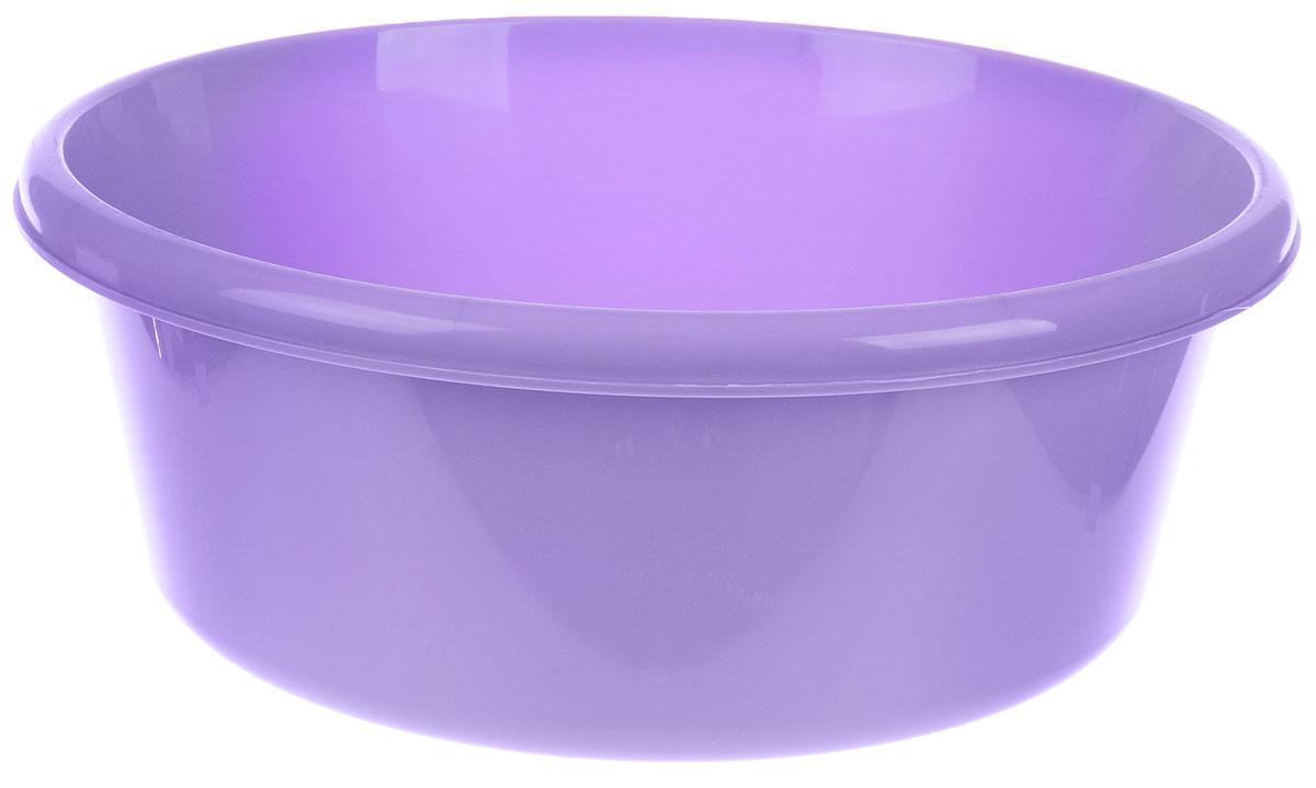 Таз Idea, круглый, цвет: лиловый, 8 л787502Таз Idea выполнен из прочного пластика. Он предназначен для стирки и хранения разных вещей. Также в нем можно мыть фрукты. Такой таз пригодится в любом хозяйстве.Диаметр таза (по верхнему краю): 30 см. Высота стенки: 14 см.