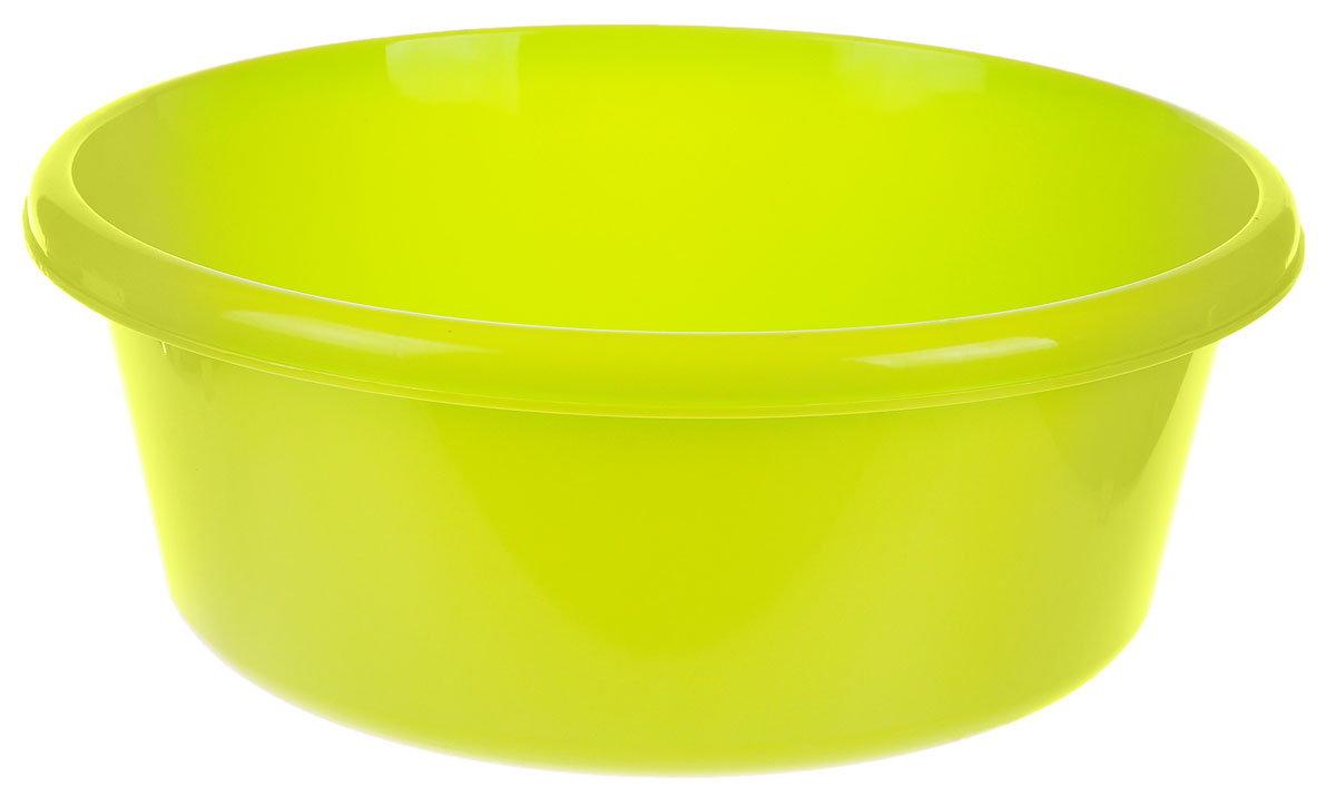 Таз Idea, круглый, цвет: салатовый, 11 лDW90Таз Idea выполнен из прочного пластика. Он предназначен для стирки и хранения разных вещей. Также в нем можно мыть фрукты. Такой таз пригодится в любом хозяйстве.Диаметр таза (по верхнему краю): 33 см. Высота стенки: 15 см.