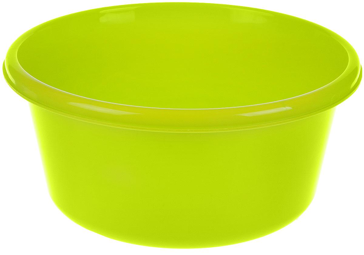 Таз Idea, круглый, цвет: салатовый, 6 л787502Таз Idea выполнен из прочного пластика. Он предназначен для стирки и хранения разных вещей. Также в нем можно мыть фрукты. Такой таз пригодится в любом хозяйстве.Диаметр таза (по верхнему краю): 26,5 см. Высота стенки: 13 см.