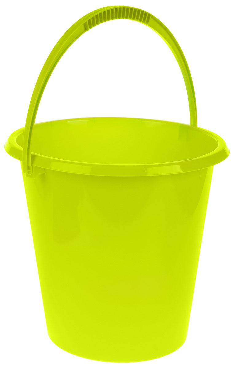 Ведро хозяйственное Idea, цвет: салатовый, 17 л787502Ведро Idea изготовлено из высококачественного прочного пластика. Оно легче железного и не подвержено коррозии. Ведро оснащено удобной пластиковой ручкой. Такое ведро станет незаменимымпомощником в хозяйстве.Диаметр (по верхнему краю): 33 см.Высота: 33 см.