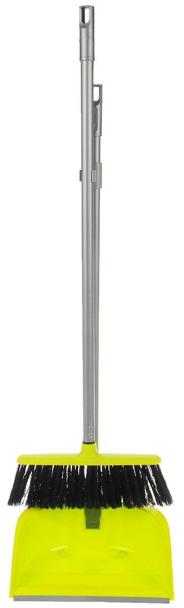 Набор для уборки Idea Ленивка. Люкс, цвет: салатовый, серый, 2 предмета234100Набор для уборки Idea Ленивка. Люкс состоит из совка и щетки, изготовленных из высококачественного пластика. Вместительный совок удерживает собранный мусор и позволяет эффективно и быстро совершать уборку в любом помещении. Сглаженный край совка обеспечивает наиболее плотное прилегание к полу. Щетка имеет удобную форму, позволяющую вымести мусор даже из труднодоступных мест. Совок и щетка оснащены длинными ручками с отверстиями для подвешивания. С набором Idea Ленивка. Люкс уборка станет легче и приятнее.Общая длина щетки: 81 см.Ширина рабочей части щетки: 25 см.Длина совка: 80 см.Размер рабочей части совка: 25,5 х 25 х 10 см.