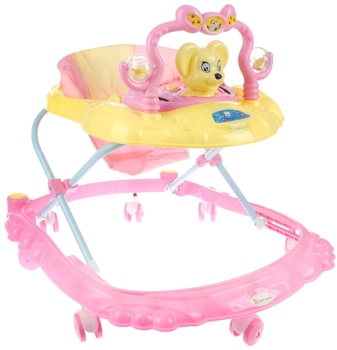 Bertoni Ходунки BW 2808 цвет розовый желтый -  Ходунки, прыгунки, качалки