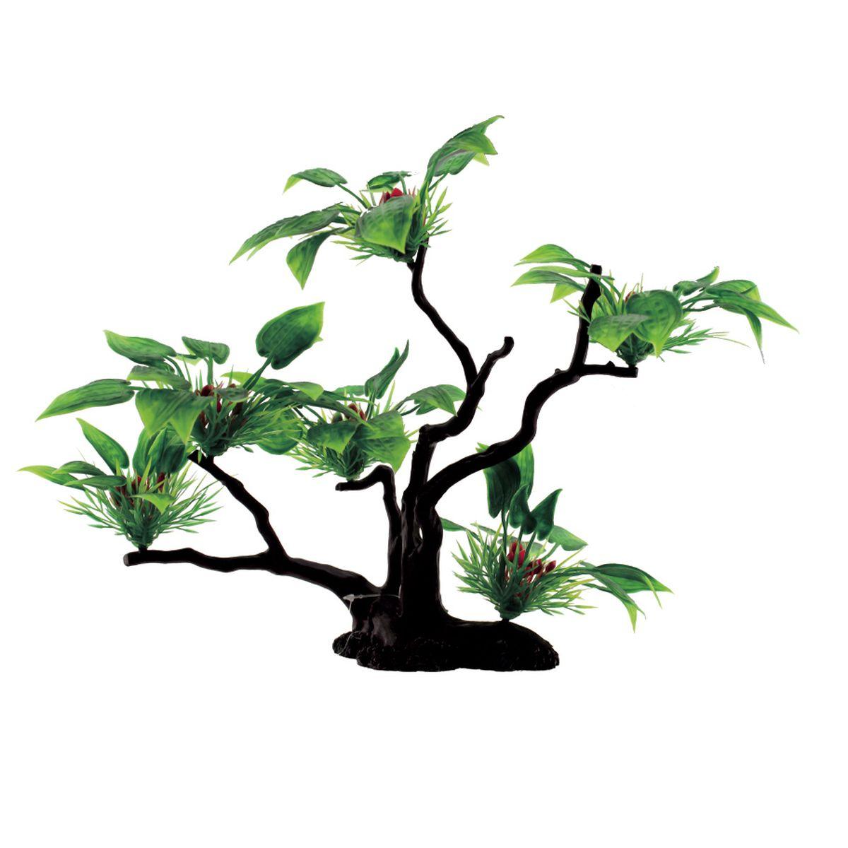 Композиция из растений для аквариума ArtUniq Буцефаландра широколистная, 32 x 12 x 32 см0120710Композиция из искусственных растений ArtUniq превосходно украсит и оживит аквариум.Растения - это важная часть любой композиции, они помогут вдохнуть жизнь в ландшафт любого аквариума или террариума.Композиция является точной копией природного растения.