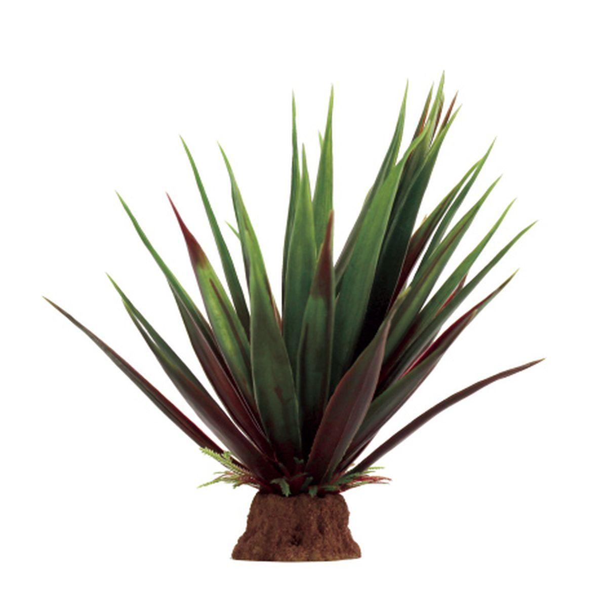 Растение для аквариума ArtUniq Агава красно-зеленая, 13 x 13 x 16 см декорация для аквариума artuniq пористый камень 20 5 x 10 5 x 18 8 см