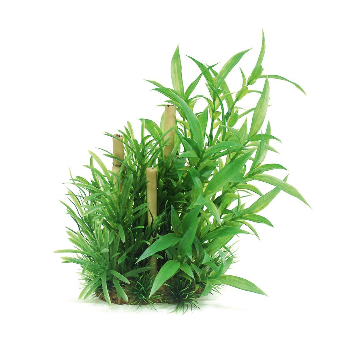 Композиция из растений для аквариума ArtUniq Гигрофила сиамская с бамбуком, высота 20 см0120710Композиция из искусственных растений ArtUniq превосходно украсит и оживит аквариум.Растения - это важная часть любой композиции, они помогут вдохнуть жизнь в ландшафт любого аквариума или террариума.Композиция является точной копией природного растения.