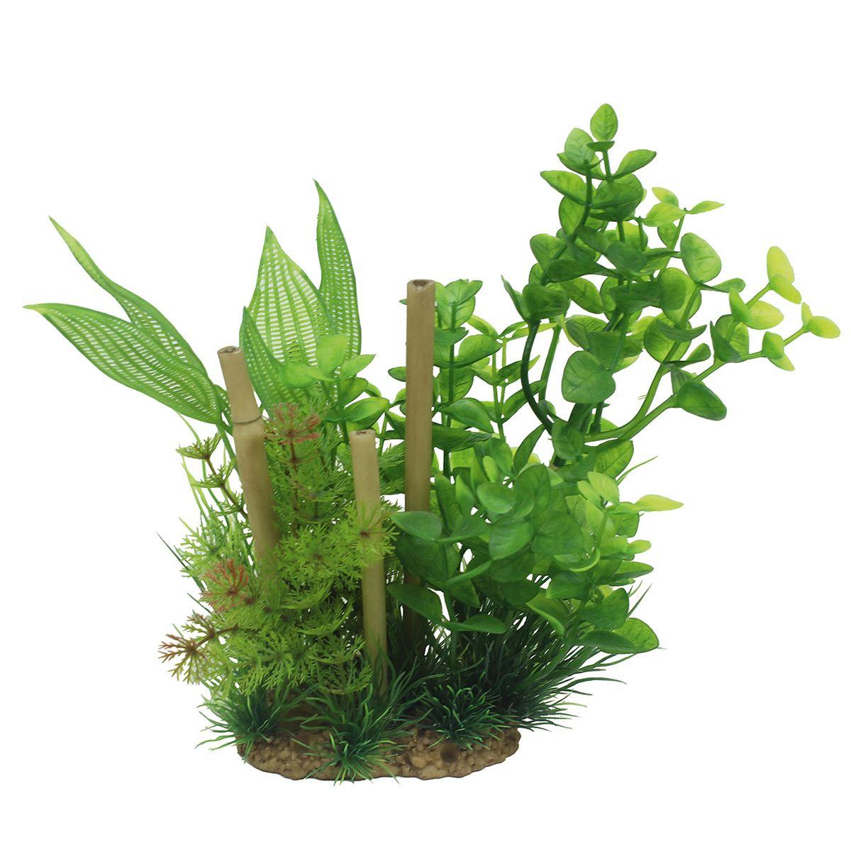 Композиция из растений для аквариума ArtUniq Бакопа с бамбуком, высота 20 см0120710Композиция из искусственных растений ArtUniq превосходно украсит и оживит аквариум.Растения - это важная часть любой композиции, они помогут вдохнуть жизнь в ландшафт любого аквариума или террариума. Композиция является точной копией природного растения.