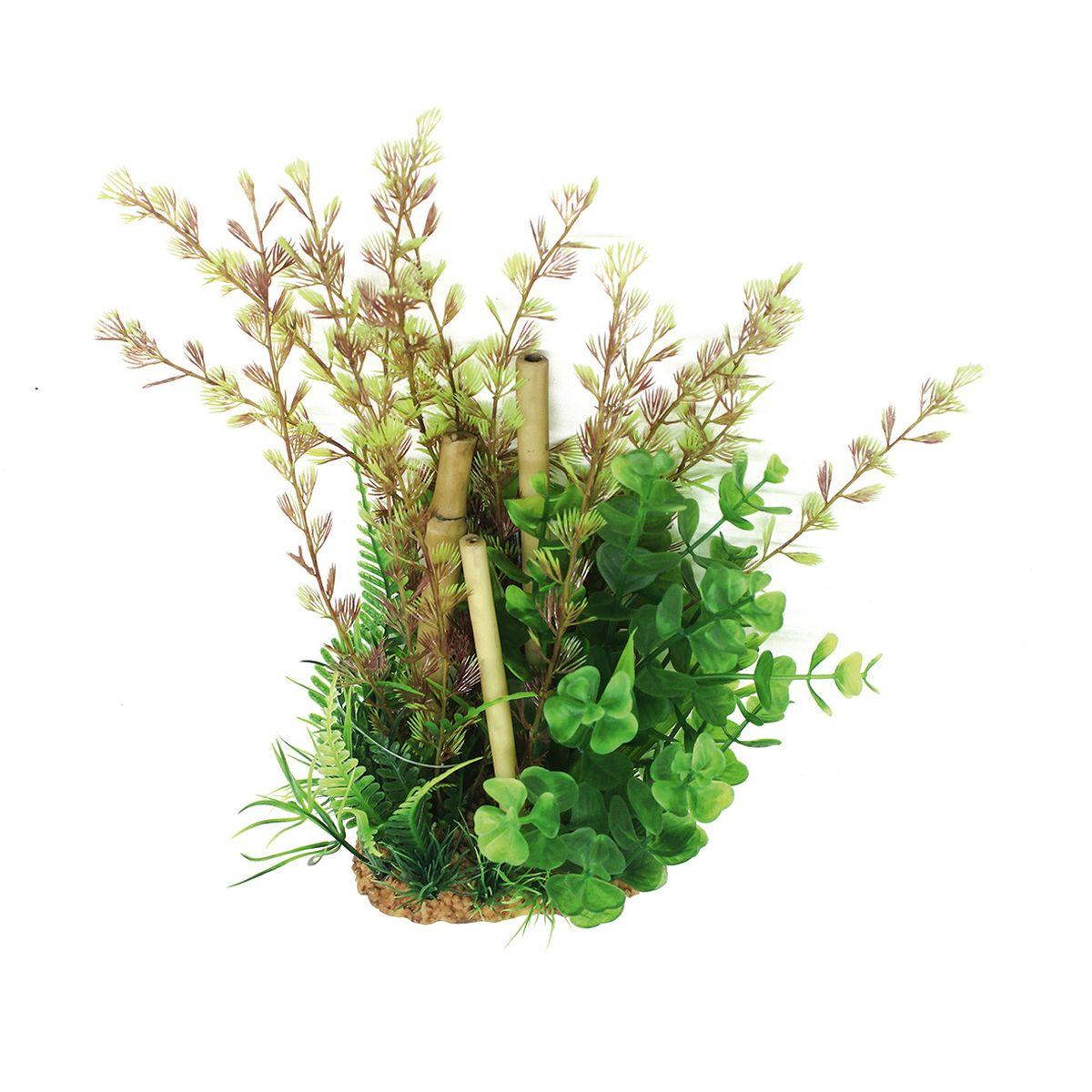 Композиция из растений для аквариума ArtUniq Кабомба с бамбуком, высота 20 см0120710Композиция из растений для аквариума ArtUniq Кабомба с бамбуком, высота 20 см