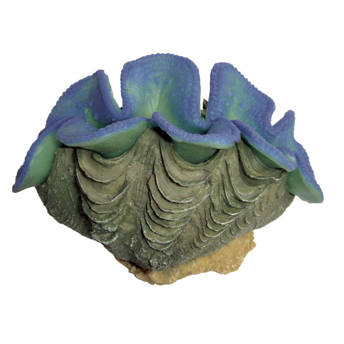 Декорация для аквариума ArtUniq Тридакна синяя, 9,5 x 5,5 x 6 см0120710Декорация ArtUniq – это яркая и важная часть любой композиции, она поможет вдохнуть жизнь в ландшафт любого аквариума или террариума. Декорация безопасна для обитателей аквариума, она не меняет параметры воды. Многие обитатели аквариума часто используют декорации как укрытия, в которых они живут и размножаются. Благодаря декорациям ArtUniq вы сможете создать прекрасный пейзаж на дне вашего аквариума или террариума.