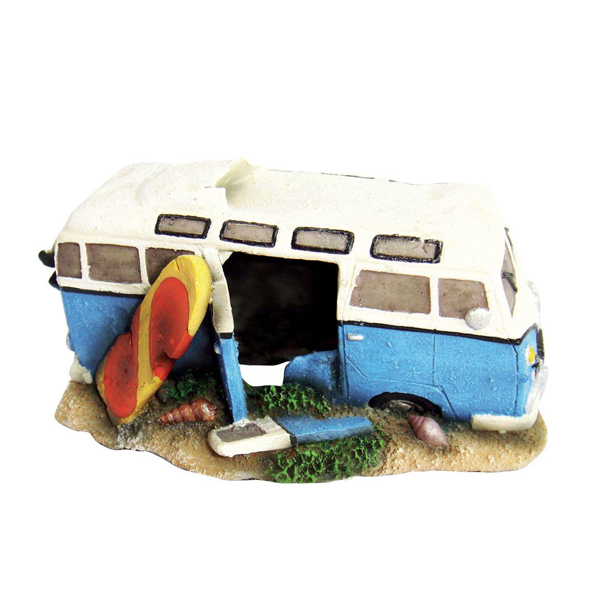 Декорация для аквариума ArtUniq Автобус незадачливых серферов, 16,5 x 11 x 8,5 см12171996Декорация ArtUniq – это яркая и важная часть любой композиции, она поможет вдохнуть жизнь в ландшафт любого аквариума или террариума. Декорация безопасна для обитателей аквариума, она не меняет параметры воды. Многие обитатели аквариума часто используют декорации как укрытия, в которых они живут и размножаются. Благодаря декорациям ArtUniq вы сможете создать прекрасный пейзаж на дне вашего аквариума или террариума.