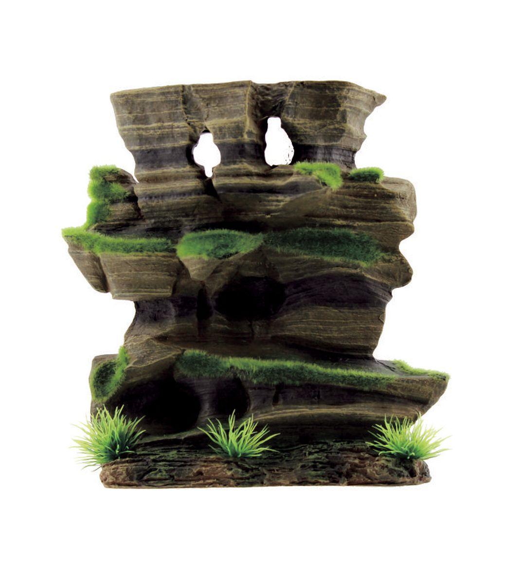 Декорация для аквариума ArtUniq Фигурная скала со мхом, 20,5 x 8,5 x 20,5 см0120710Декорация для аквариума ArtUniq Фигурная скала со мхом, 20,5 x 8,5 x 20,5 см