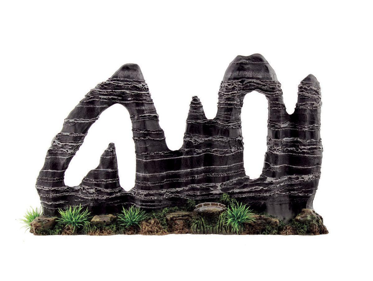 Декорация для аквариума ArtUniq Фигурная скала, 38 x 8,5 x 24 см декорация для аквариума трикси грот скала с пещерой 23 см