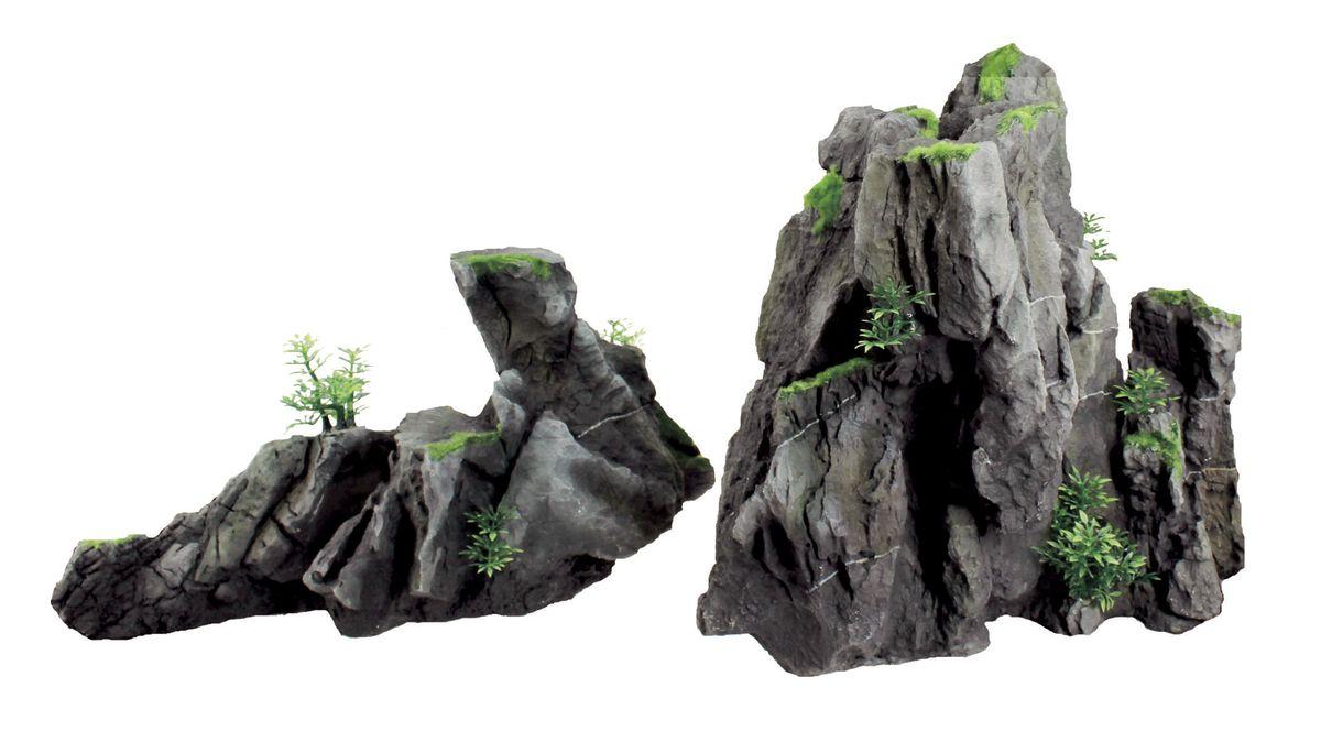 Декорация для аквариума ArtUniq Серые скалы, 47 x 18,7 x 24,8 см0120710Декорация ArtUniq – это яркая и важная часть любой композиции, она поможет вдохнуть жизнь в ландшафт любого аквариума или террариума. Декорация безопасна для обитателей аквариума, она не меняет параметры воды. Многие обитатели аквариума часто используют декорации как укрытия, в которых они живут и размножаются. Благодаря декорациям ArtUniq вы сможете создать прекрасный пейзаж на дне вашего аквариума или террариума.