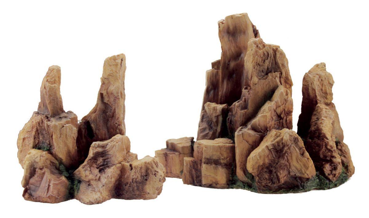 Декорация для аквариума ArtUniq Крутые скалы, 31,5 x 24,5 x 26 см0120710Декорация ArtUniq – это яркая и важная часть любой композиции, она поможет вдохнуть жизнь в ландшафт любого аквариума или террариума. Декорация безопасна для обитателей аквариума, она не меняет параметры воды. Многие обитатели аквариума часто используют декорации как укрытия, в которых они живут и размножаются. Благодаря декорациям ArtUniq вы сможете создать прекрасный пейзаж на дне вашего аквариума или террариума.