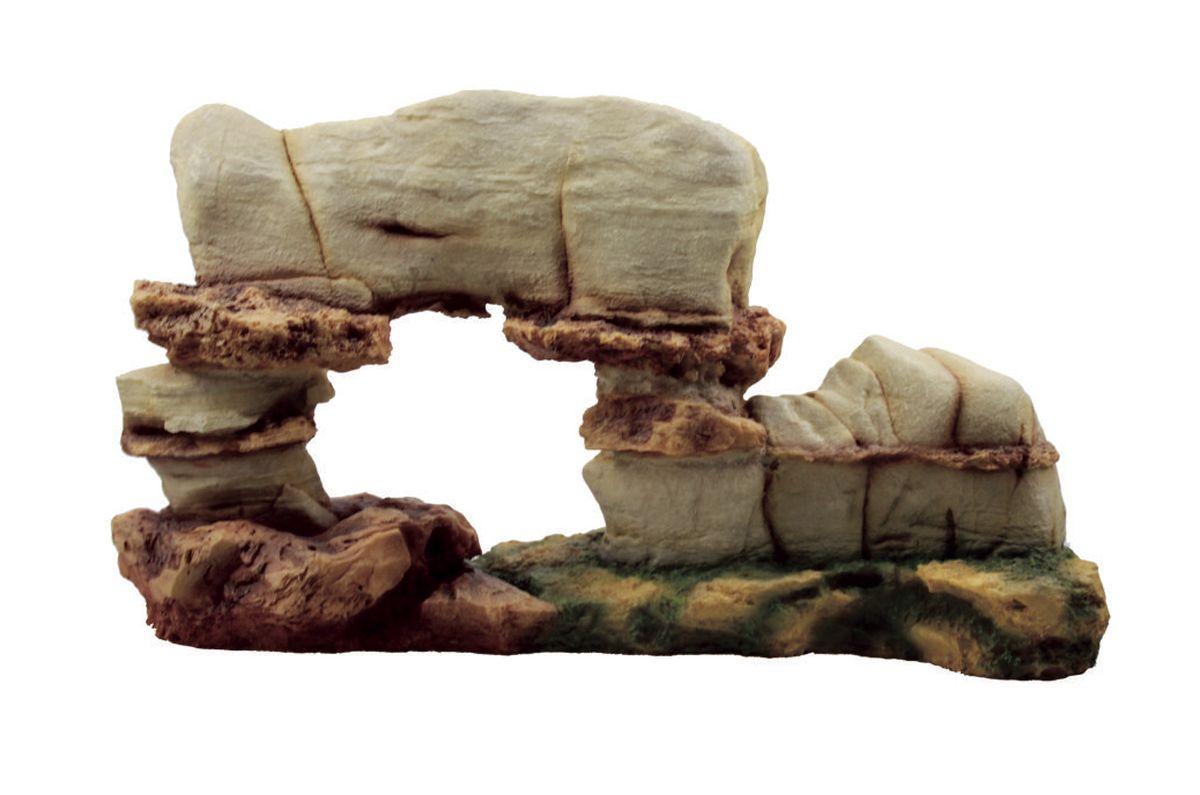 Декорация для аквариума ArtUniq Пещера, 42 x 11,5 x 24 см0120710Декорация ArtUniq – это яркая и важная часть любой композиции, она поможет вдохнуть жизнь в ландшафт любого аквариума или террариума. Декорация безопасна для обитателей аквариума, она не меняет параметры воды. Многие обитатели аквариума часто используют декорации как укрытия, в которых они живут и размножаются. Благодаря декорациям ArtUniq вы сможете создать прекрасный пейзаж на дне вашего аквариума или террариума.