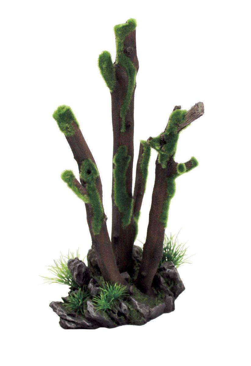 Декорация для аквариума ArtUniq Ветви во мху, 20,5 x 17,3 x 37,5 см0120710Декорация ArtUniq – это яркая и важная часть любой композиции, она поможет вдохнуть жизнь в ландшафт любого аквариума или террариума. Декорация безопасна для обитателей аквариума, она не меняет параметры воды. Многие обитатели аквариума часто используют декорации как укрытия, в которых они живут и размножаются. Благодаря декорациям ArtUniq вы сможете создать прекрасный пейзаж на дне вашего аквариума или террариума.