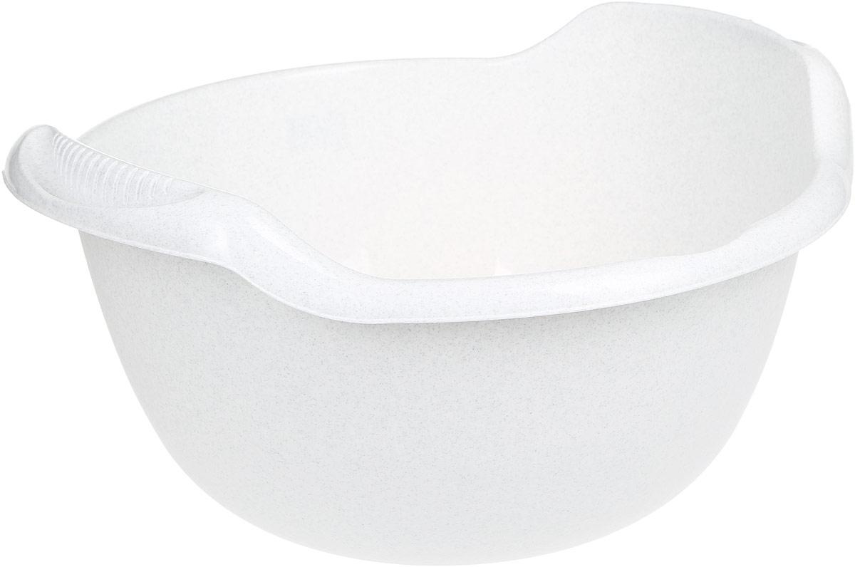 Таз Idea, с ручками, цвет: мраморный, 24 л10503Таз Idea выполнен из прочного пластика. Он предназначен для стирки и хранения разных вещей. Также в нем можно мыть фрукты. Для удобства таз снабжен двумя ручками.Такой таз пригодится в любом хозяйстве.Размер таза: 47 х 51 х 26 см.