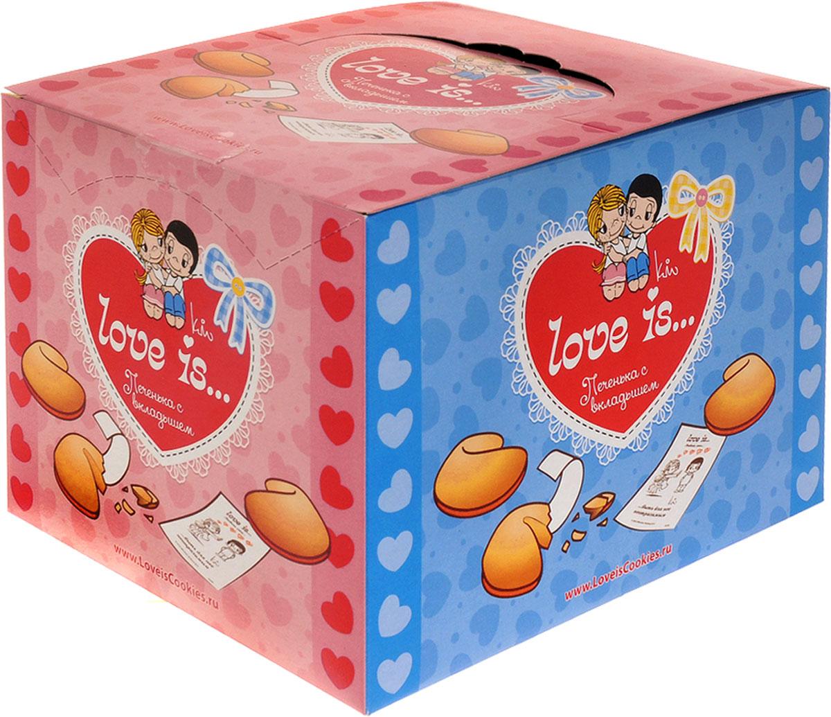 Love is Печенье с вкладышем, 38 шт4603720388845Набор из 38 штук вкусного песочного печенья Love is с нежным хрустящим вкусом. Внутри печенья находится бумажный вкладыш с очередной романтической историей на тему Любовь - это….Уважаемые клиенты! Обращаем ваше внимание, что полный перечень состава продукта представлен на дополнительном изображении.
