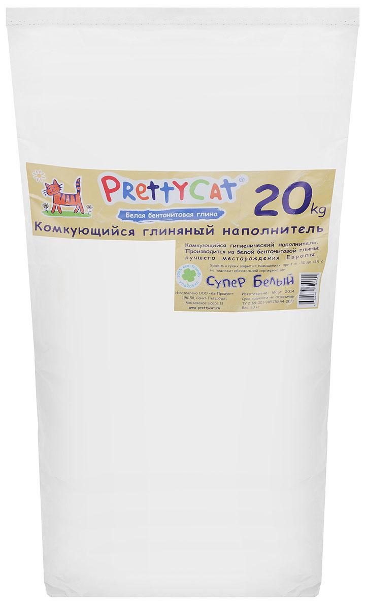 Наполнитель для кошачьих туалетов PrettyCat Супер белый, комкующийся, 20 кг0120710Наполнитель для кошачьих туалетов PrettyCat Супер белый - это 100% натуральный комкующийся наполнитель. Он изготовлен из белой бентонитовой глины лучшего европейского качества. Впитывает до 400% влаги, прекрасно комкуется в идеально ровные шарики. Благодаря способности моментально образовывать крепкие комки, он обеспечит необходимую гигиену в кошачьем туалете, а также значительно упростит процесс уборки. Наполнитель изготовлен из экологически чистого материала, поэтому будет напоминать вашему питомцу о естественной среде обитания, а вам не доставит лишних хлопот по уходу за своим любимцем.Вес: 20 кг.Состав: белая бентонитовая глина.Товар сертифицирован.