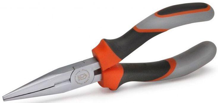 Длинногубцы КВТ Мастер 160 ммCA-3505Предназначены для работ в труднодоступных местах и в точной механикеЗахватные губки с зубцами и режущими кромками для среднетвердой и твердой проволокиРежущие кромки дополнительно закалены токами высокой частоты. HRC 62Материал рабочей части: инструментальная хром-ванадиевая стальОбработка поверхности: матовое никелированиеМногокомпонентные рукоятки с упорами для защиты от соскальзыванияДлина 160 ммВес 150 г