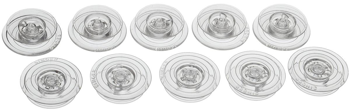 Шпульки Hemline для швейных машин Singer серии Auto Wind 600/700, 10 штComfort 05-15Шпульки Hemline подходят для швейных машин Singer серии Auto Wind 600/700. Шпульки выполнены из прочного пластика. Пластиковые шпульки заменяют металлические шпульки, которыми снабжены машинки. Размер шпульки: 2,2 х 2,2 х 0,6 см.