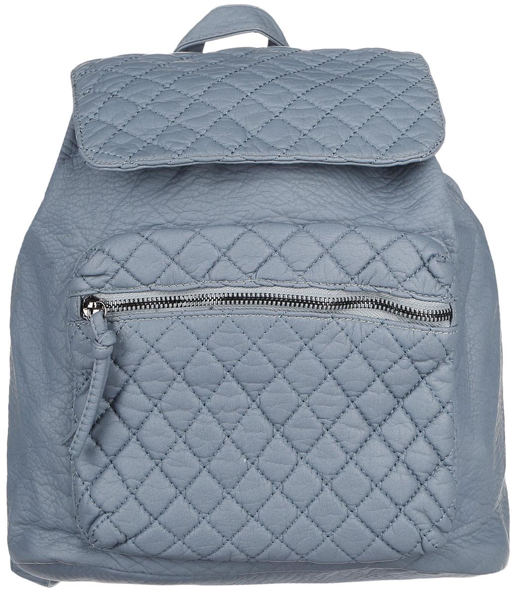 Рюкзак женский OrsOro, цвет: серо-голубой. D-255/8747998-101Стильный рюкзак OrsOro, выполнен из экокожи и оснащен двумя плечевыми регулируемыми ремнями на спинке и удобной ручкой для переноски. Изделие затягивается с помощью шнурка и закрывается клапаном на кнопку, внутри имеет одно вместительное отделение с одним накладным карманом для телефона и мелочей и одним прорезным карманом на застежке-молнии. С тыльной стороны изделия имеется прорезной карман на застежке-молнии. Рюкзак оснащен также передним накладным карманом, который закрывается на молнию.Сумка-рюкзак OrsOro - это выбор молодой, уверенной, стильной женщины, которая ценит качество и комфорт. Изделие станет изысканным дополнением к вашему образу.