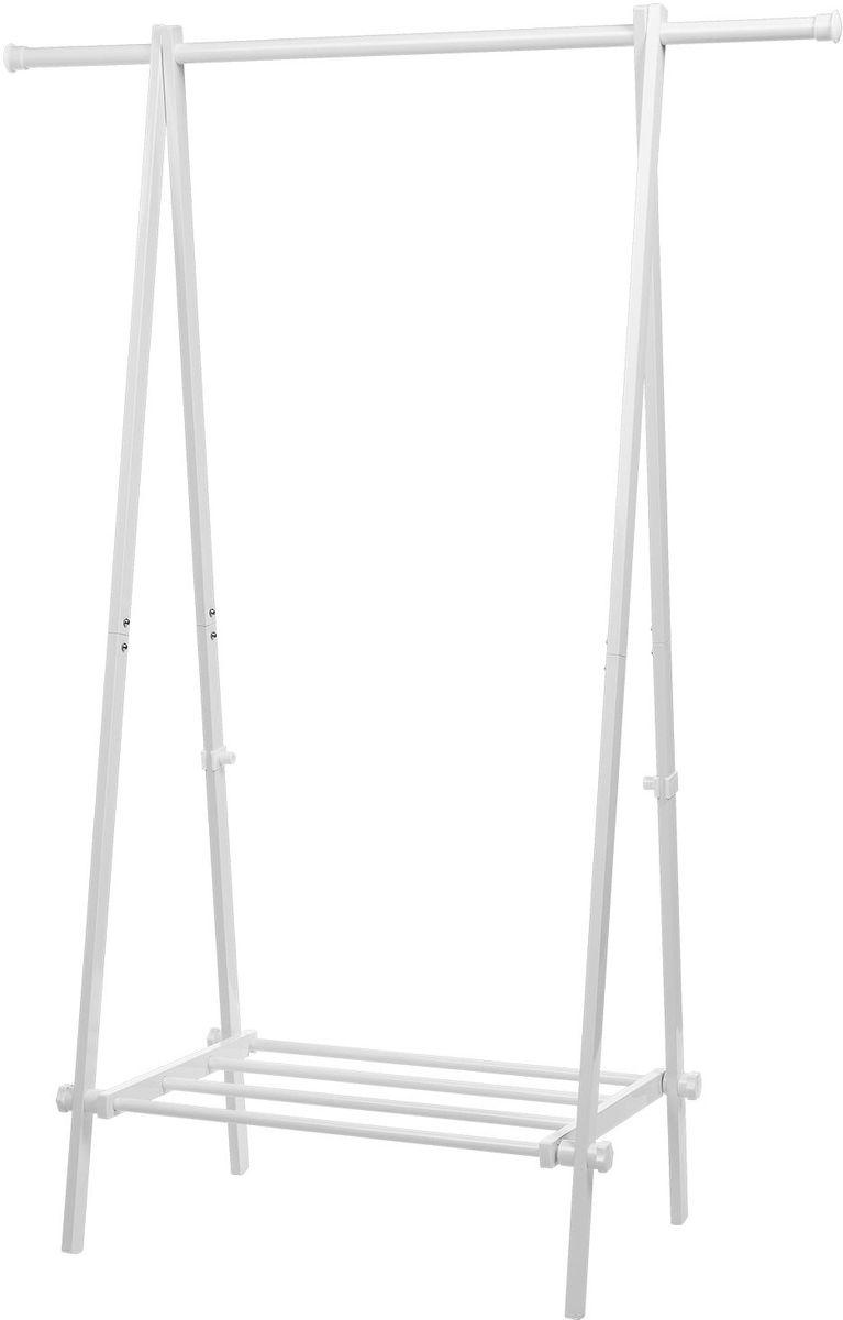 Складная стойка для одежды Tatkraft Muse, с полкойBH-UN0502( R)Складная стойка для одежды Tatkraft Muse с полкой, выдерживает вес до 22,7 кг для 30 вешалок, длинна для вывешивания 1 м, компактная в сложенном виде, легко хранить. Размер в сложенном виде: 108 х 10 х 151 см. Стальной каркас с сильными пластиковыми фиксаторами. Удобная полка для хранения коробок и обуви.