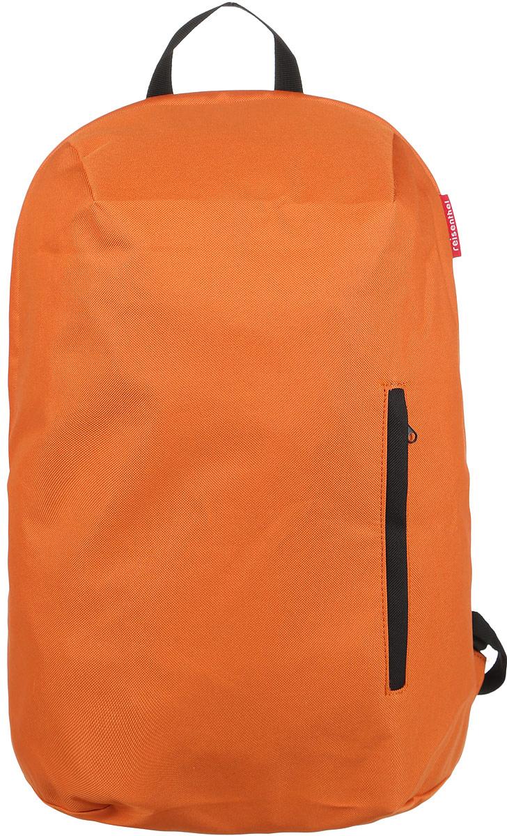 Рюкзак Reisenthel, цвет: оранжевый. RC20193-47660-00504Практичный рюкзак Reisenthel изготовлен из качественного полиэстера.Изделие содержит одно вместительное отделение, которое закрывается на застежку-молнию. Внутри расположен мягкий карман для ноутбука на липучке. Снаружи, на лицевой стороне рюкзака, расположен врезной карман на молнии. Рюкзак дополнен петлей для подвешивания и двумя широкими лямками, длина которых регулируется при помощи пряжек.Стильный рюкзак Reisenthel вместит в себя все необходимое и прекрасно дополнит ваш образ.