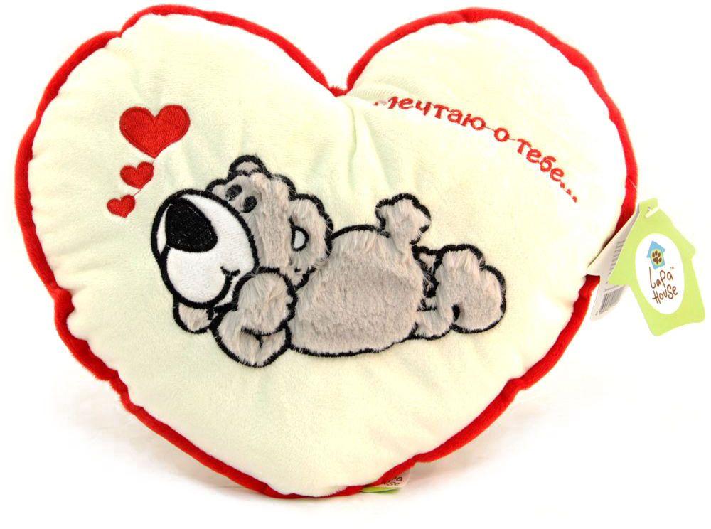 Lapa House Мягкая игрушка-подушка Мечтаю о тебе 30 см