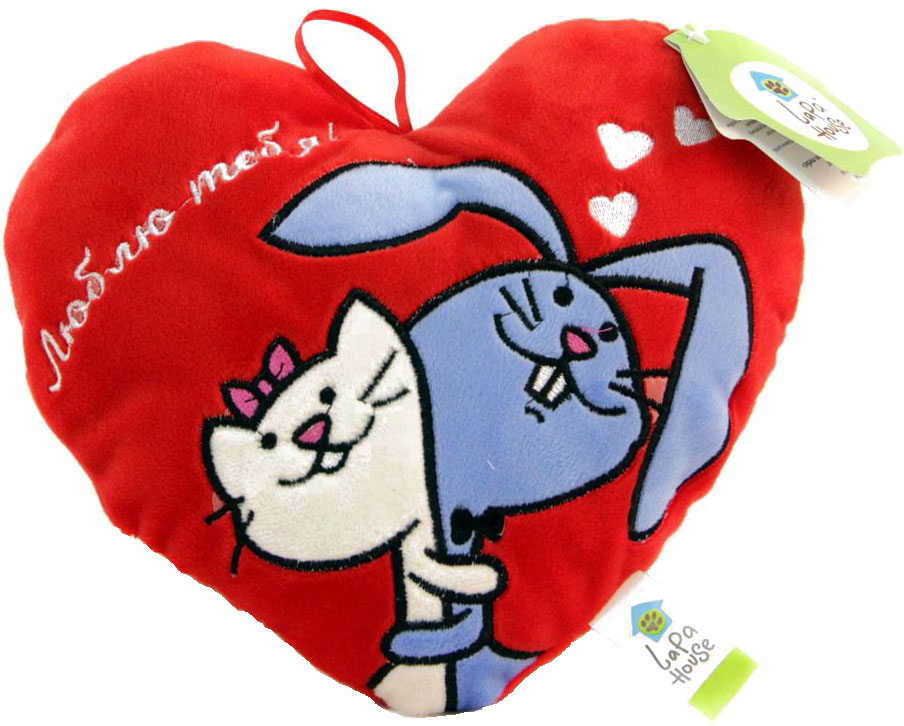Lapa House Мягкая игрушка-подушка Люблю тебя! 25 см 34146