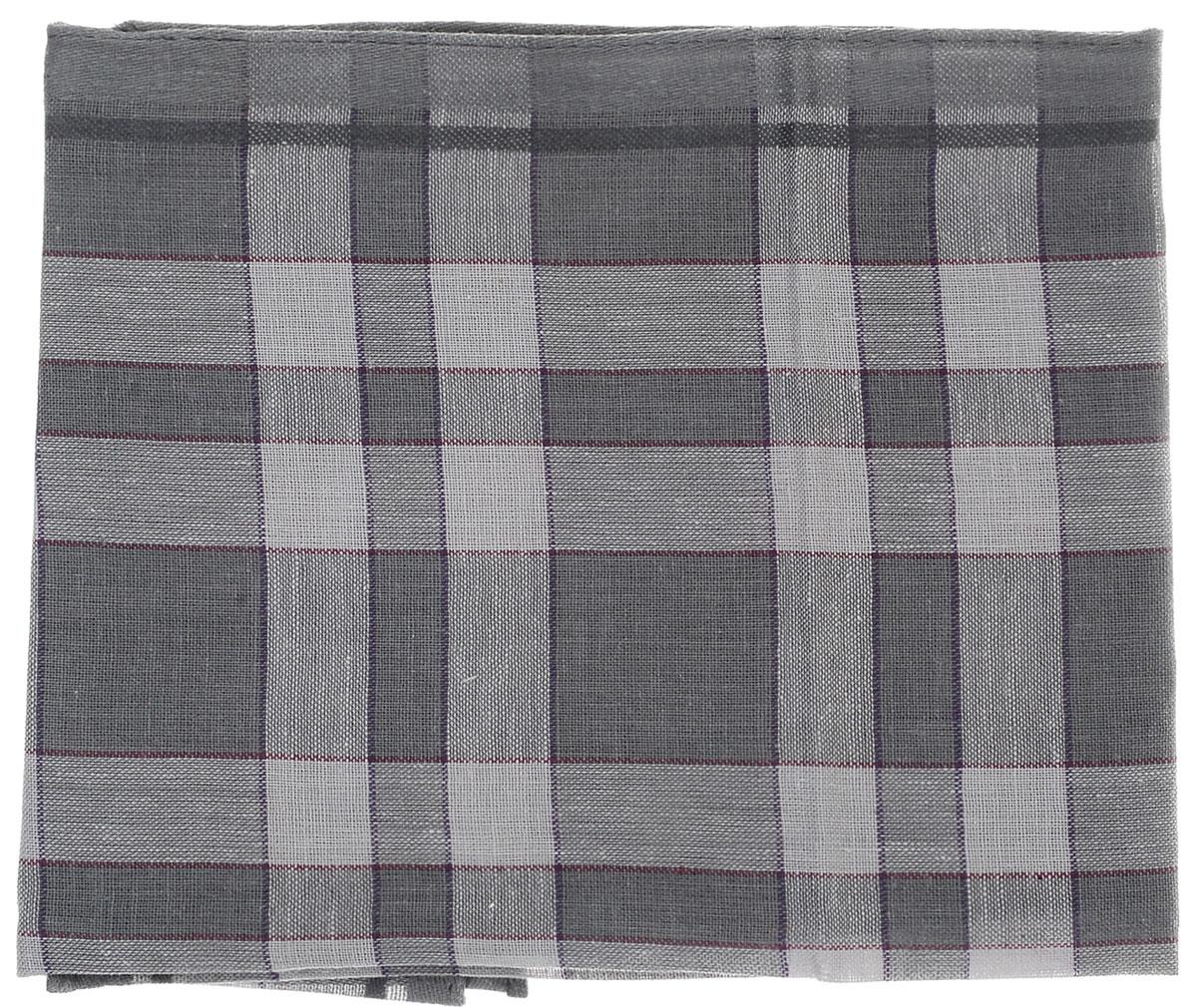 Платок носовой мужской Zlata Korunka, цвет: серый, светло-серый. 45495. Размер 37 см х 37 смСерьги с подвескамиМужской носовой платок Zlata Korunka, изготовленный из хлопка с добавлением полиэстера, приятен в использовании и хорошо стирается. Материал не садится и отлично впитывает влагу. Модель оформлена оригинальным принтом.