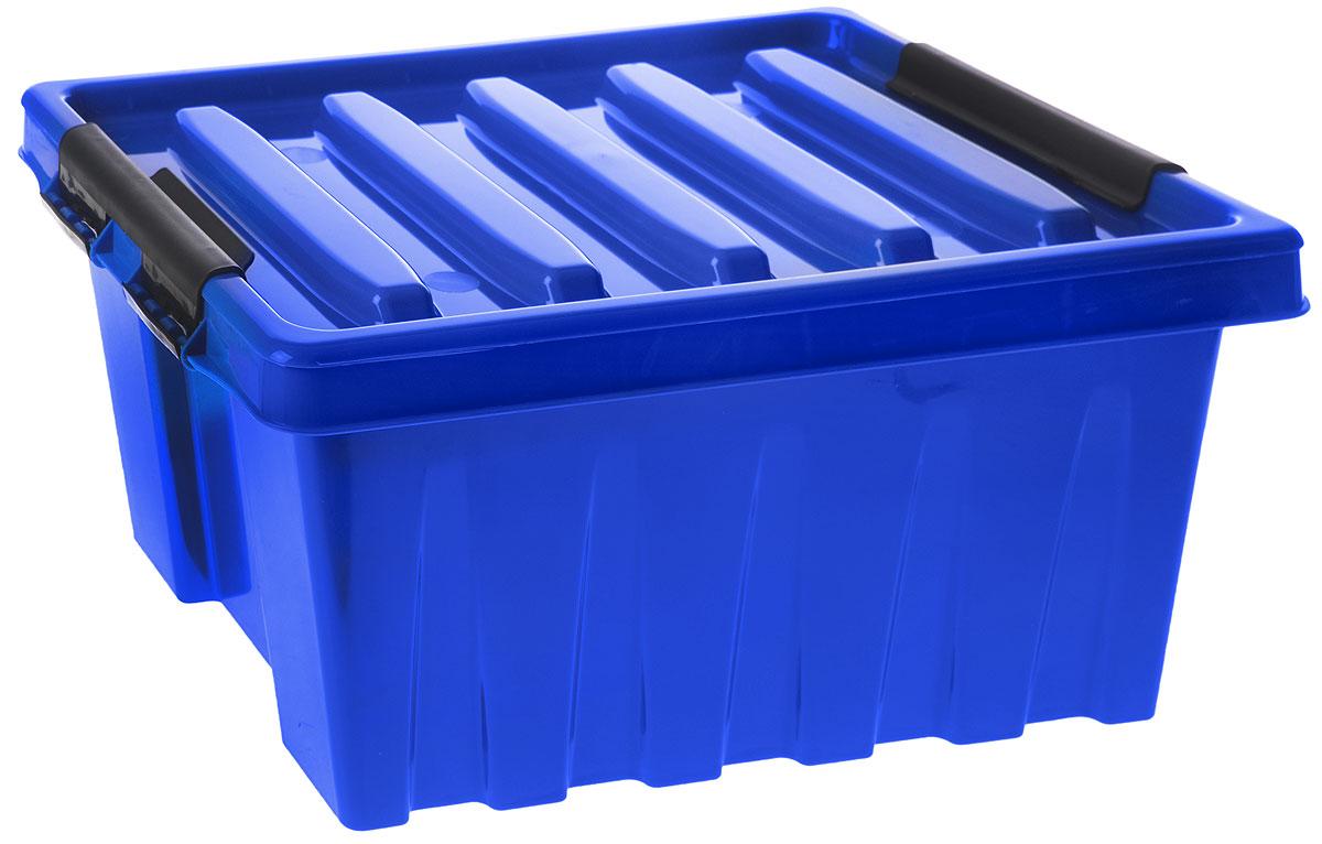 Контейнер для хранения Роксор, цвет: синий, черный, 16 л70697Контейнер Роксор выполнен из полипропилена, предназначен для хранения пищевых продуктов, инструментов, швейных принадлежностей, бумаг и многого другого. Универсальный контейнер для хранения с крышкой оснащен оригинальными ручками-фиксаторами, которые надежно и плотно удерживают крышку в закрытом положении. Толстые стенки и ребра жесткости придают ящикам особую прочность, уменьшая риск повреждения как самого ящика, так и его содержимого.