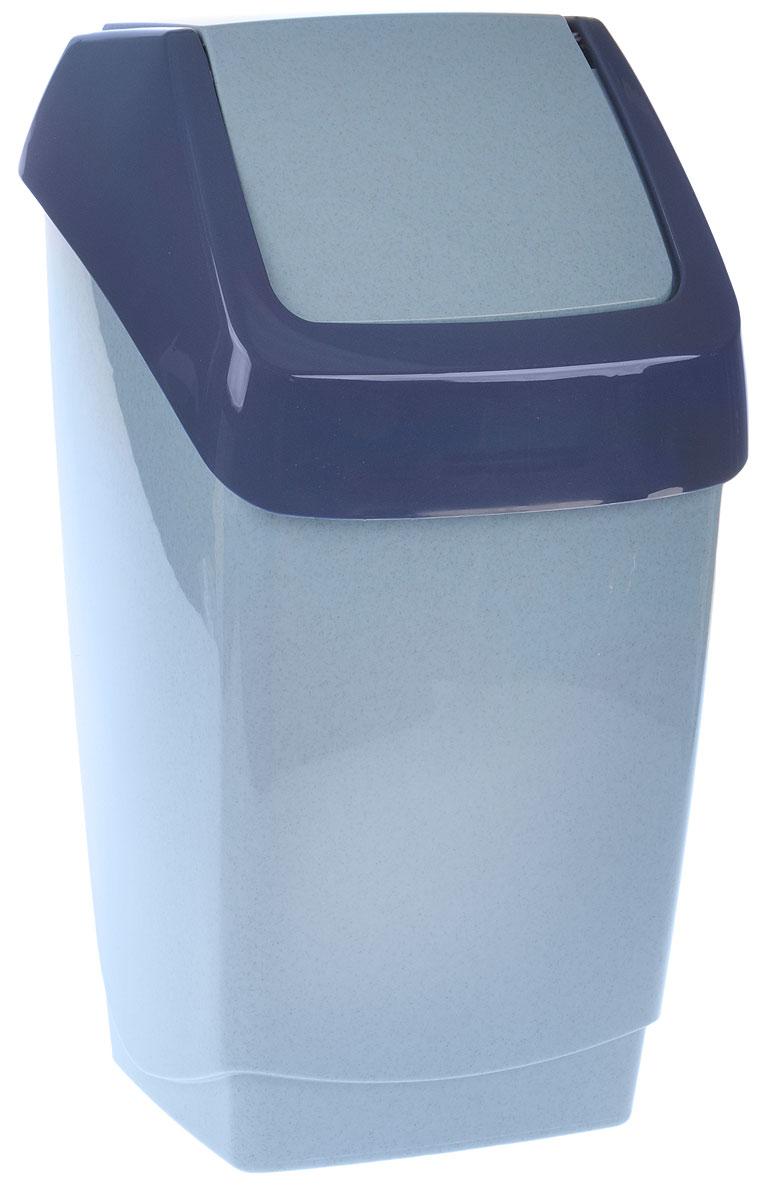 Контейнер для мусора Idea Хапс, цвет: голубой, синий, 15 л391602Контейнер для мусора Idea Хапс изготовлен из прочного полипропилена. Контейнер снабжен удобной съемной крышкой с подвижной перегородкой. Благодаря лаконичному дизайну такой контейнер идеально впишется в интерьер и дома, и офиса. Размер контейнера: 25 х 24 х 46 см.