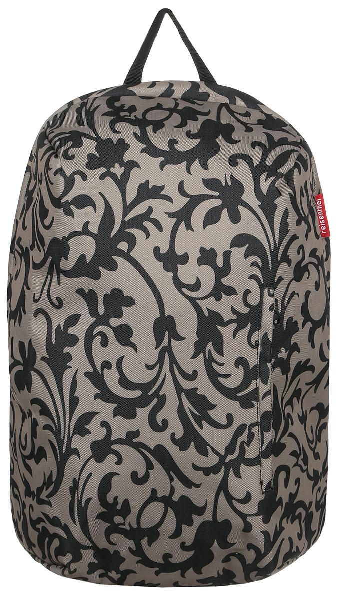 Рюкзак женский Reisenthel, цвет: бежевый, черный. RC7027KV996OPY/MСтильный женский рюкзак Reisenthel выполнен из плотного полиэстера с оригинальным принтом. Изделие имеет одно отделение, которое закрывается на застежку-молнию. Внутри находится мягкий карман для ноутбука или планшета, закрывающийся на хлястик с липучкой. Снаружи, на передней стенке находится прорезной карман на застежке-молнии. Уплотненная спинка обеспечивает комфорт при переноске изделия. Рюкзак оснащен удобными широкими лямками, которые регулируются по длине, и текстильной ручкой. Стильный рюкзак Reisenthel станет незаменимым в повседневной жизни.