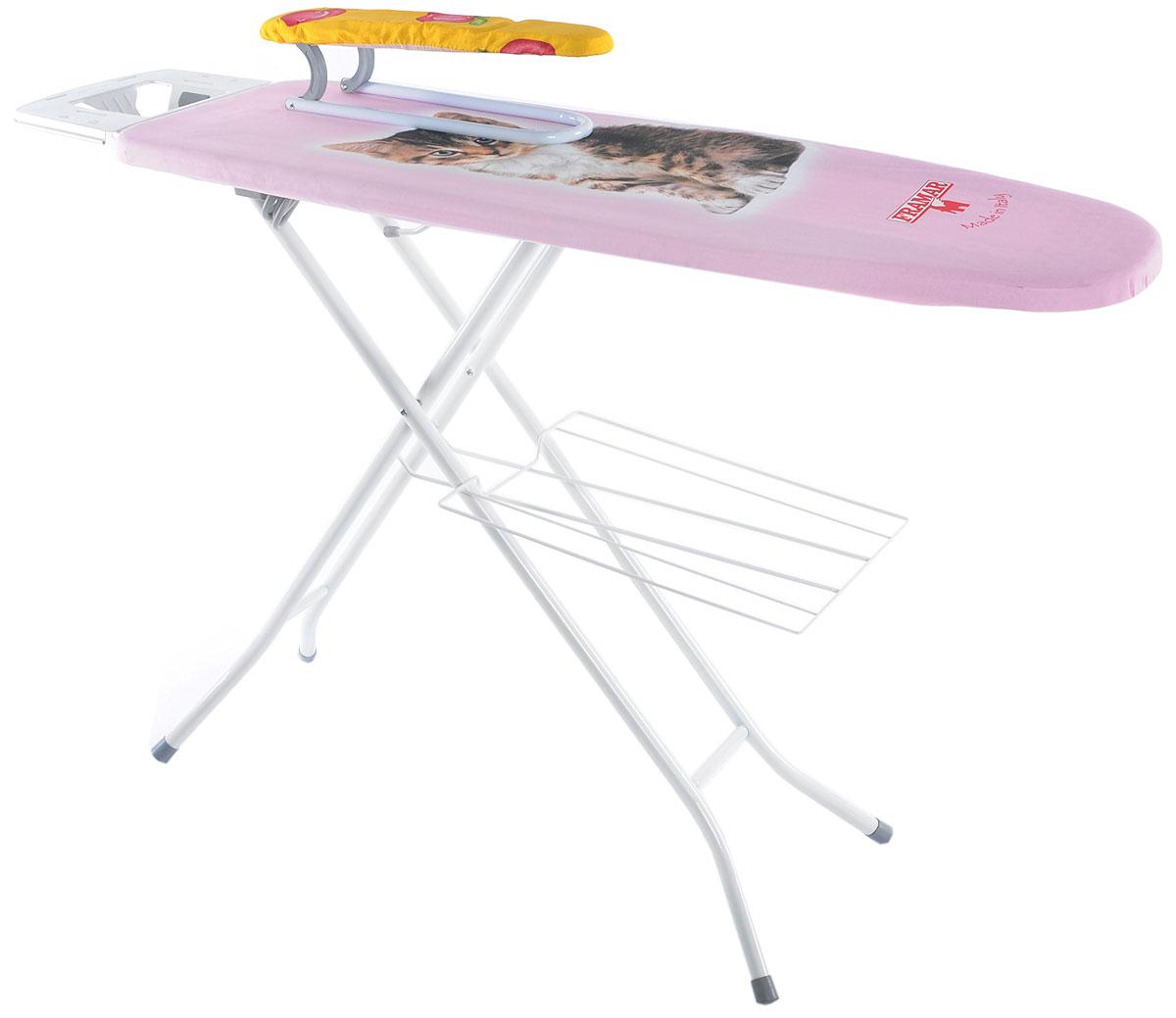 """Доска гладильная Framar """"Vapolux 5 Electro"""", цвет: розовый, коричневый, белый, 122 см х 38 см"""