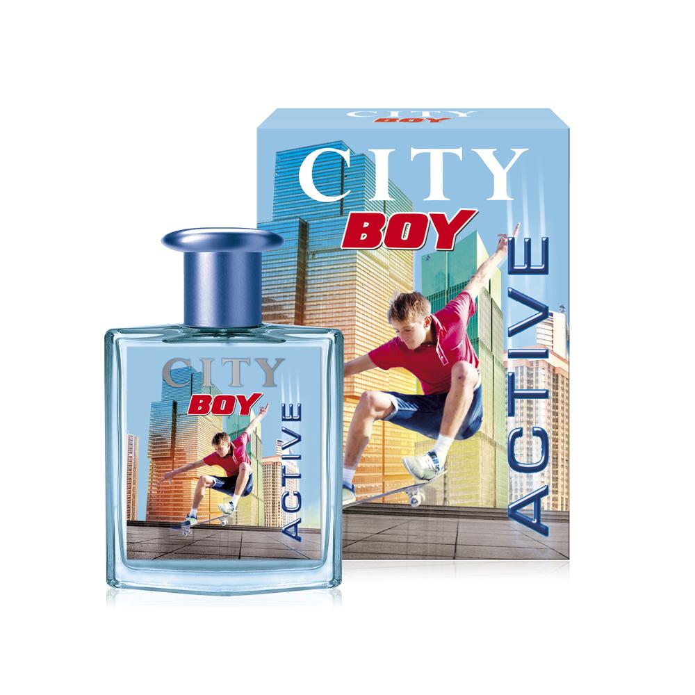 City Parfum, City Boy Active, туалетная вода 50 мл58788968000Аромат CITY BOY ACTIVE - для юных покорителей вершин. Действуй! Аромат CITY BOY ACTIVE с яркими и бодрящими нотами лимона, яблока, имбиря и свежими акватическими аккордами подарит мощный заряд энергии и силы, которые помогут достичь не одну высоту!