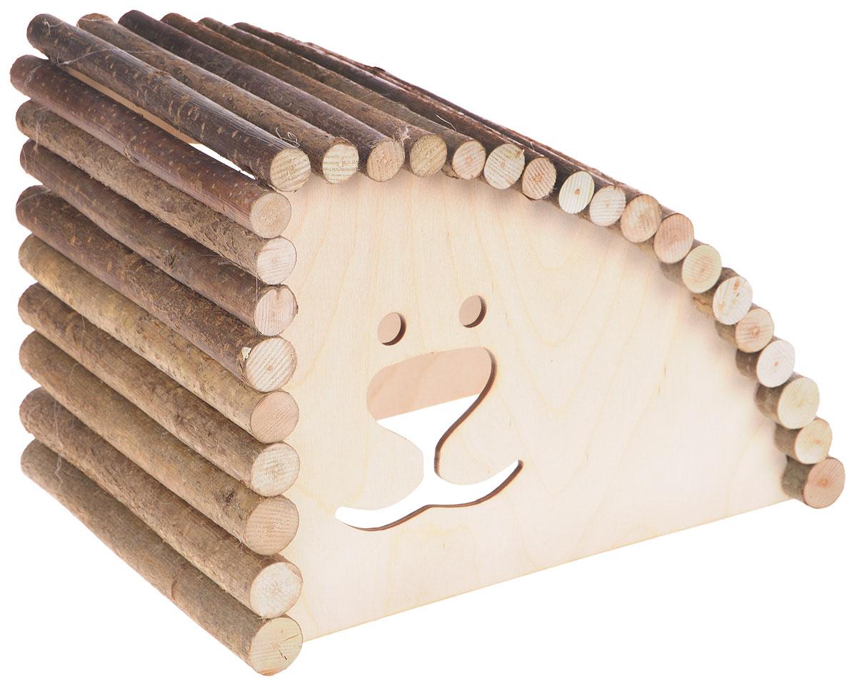 Домик для грызунов Zoobaloo Геркулес, правый угол, 29 х 20 х 20 смDM-150355-2_коричневыйZoobaloo Геркулес - это комфортный деревянный домик для грызунов. Он послужит надежным укрытием вашему любимцу, а также идеальным местом для сна и отдыха. Домик весьма просторный, имеет оригинальную округлую крышу, изготовленную из прутьев орешника, и удобный вход.Этот аксессуар предоставит вашему любимцу минуты отдыха в течение дня и позволит ощутить максимальный комфорт и уют.