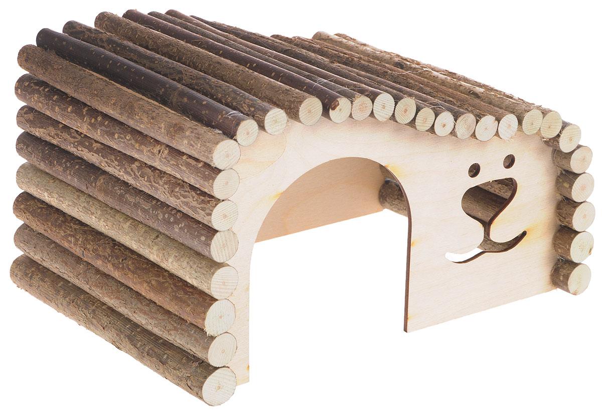 Домик для грызунов Zoobaloo Волна, левый угол, 28 х 15 х 15 см626LZoobaloo Волна - это комфортный деревянный домик для грызунов. Он послужит надежным укрытием вашему любимцу, а также идеальным местом для сна и отдыха. Домик весьма просторный, имеет оригинальную округлую крышу, изготовленную из прутьев орешника, и удобный вход.Этот аксессуар предоставит вашему любимцу минуты отдыха в течение дня и позволит ощутить максимальный комфорт и уют.