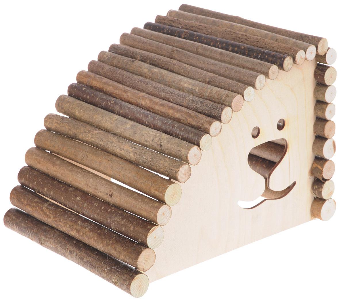 Домик для грызунов Zoobaloo Геркулес, левый угол, 29 х 20 х 20 см616Zoobaloo Геркулес - это комфортный деревянный домик для грызунов. Он послужит надежным укрытием вашему любимцу, а также идеальным местом для сна и отдыха. Домик весьма просторный, имеет оригинальную округлую крышу, изготовленную из прутьев орешника, и удобный вход.Этот аксессуар предоставит вашему любимцу минуты отдыха в течение дня и позволит ощутить максимальный комфорт и уют.