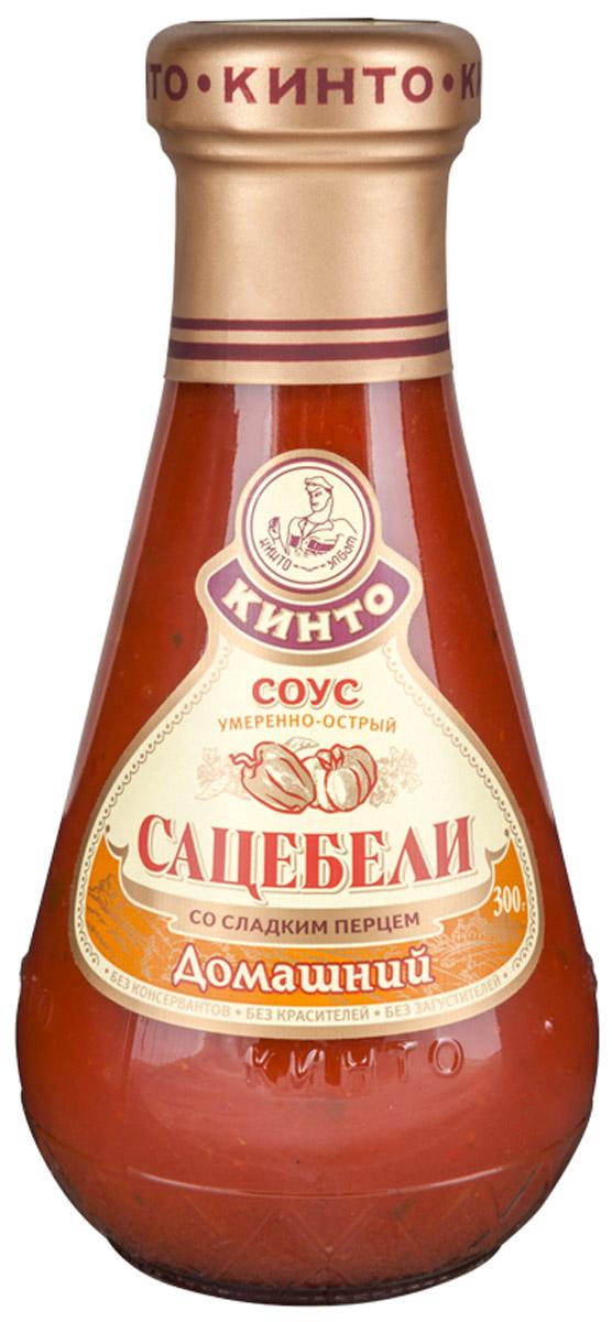 Кинто Сацебели домашний соус томатный, 300 г0120710Томатный умеренно-острый соус Кинто Сацебели домашний изготовлен по оригинальной рецептуре из томатной пасты и сладкого перца с добавлением свежей пряной зелени. Обладает гармоничным вкусом и ароматом, идеально подходит к блюдам из мяса, птицы, макаронных изделий. Не содержит ГМО, консервантов, загустителей и красителей.Сацебели - один из самых почитаемых в грузинской кухне соусов. Готовят его из спелых помидоров, выращенных под жарким южным солнцем с добавлением пряной зелени и ароматных трав. Восхитительный сацебели станет лучшим дополнением к шашлыку, блюдам из рыбы и курицы, а также к разнообразным и столь любимым в грузинской кухне овощам и даже к хачапури.
