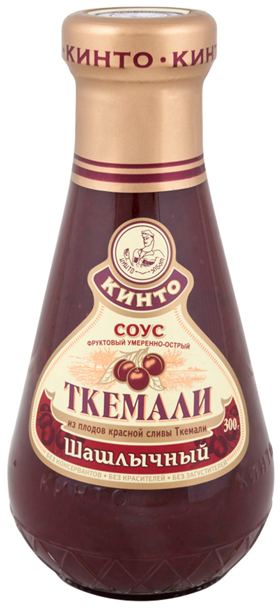 Кинто Ткемали шашлычный соус фруктовый, 300 г1093Фруктовый умеренно-острый соус Кинто Ткемали шашлычный изготовлен из красной зрелой сливы ткемали, имеет яркий вкус и аромат. Отлично гармонирует с блюдами, приготовленными на мангале и гриле. Не содержит ГМО, консервантов, загустителей и красителей. Соусы ткемали занимают одно из почетных мест в грузинской кухне и готовятся из различных видов слив, от зеленой до терна. Соусы ткемали Кинто удивят гурманов изысканными, натуральными и приготовленными по традиционным рецептам вкусами. Подобно первым лучам солнца, этот соус добавит каждому блюду свежести и изысканности.