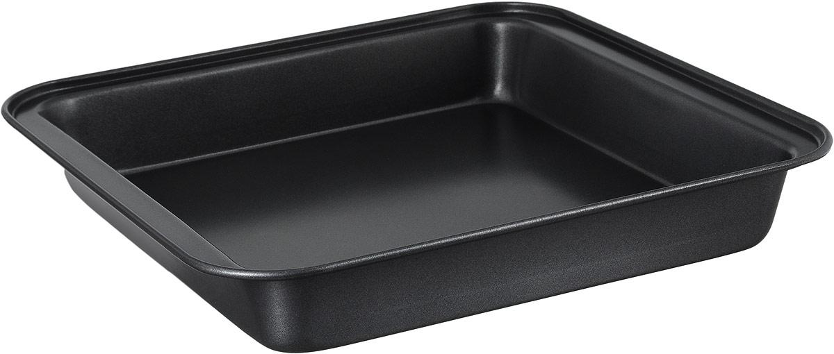 Противень Termico Classico, с антипригарным покрытием, 27 x 25,5 см54 009312Противень Termico Classico изготовлен из высококачественной углеродистой стали с антипригарным покрытием, благодаря чему продукты не пригорают и не прилипают к стенкам посуды. Кроме того, готовить можно с добавлением минимального количества масла и жиров. Антипригарное покрытие также обеспечивает легкость мытья. Стальные стенки посуды быстро распределяют тепло, благодаря чему продукты запекаются равномерно. Для чистки нельзя использовать абразивные чистящие средства и жесткие губки. Размер формы по-верхнему краю: 27 х 25,5 см. Высота стенки формы: 4 см.