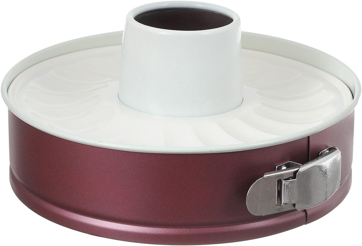 Форма для выпечки Termico EcoCeramo, с двумя керамическими основаниями, диаметр 24 смFS-91909Круглая форма для выпечки Termico EcoCeramo изготовлена из высококачественной углеродистой стали с керамическим покрытием, благодаря чему выпечка не пригорает и не прилипает к стенкам посуды. Кроме того, готовить можно с добавлением минимального количества масла и жиров. Керамическое покрытие также обеспечивает легкость мытья. Стальные стенки посуды быстро распределяют тепло, благодаря чему выпечка пропекается равномерно.Для чистки нельзя использовать абразивные чистящие средства и жесткие губки. В комплект входят два керамических основания, с помощью одного можно выпечь пирог, с помощью другого кекс.Диаметр формы по верхнему краю: 24 см. Высота стенок формы: 6,5 см; 6,8 см.