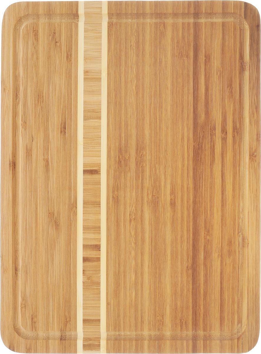 Доска разделочная Termico, 39 x 30 x 1,8 см391602Разделочная доска Termico выполнена из 100% натурального бамбука. Прочная, долговечная доска не боится воды и не впитывает запахи. Легко моется, бережно относится к лезвию ножа. По краям доска оснащена бортиком для стока жидкости. Такая доска понравится любой хозяйке и будет отличной помощницей на кухне.