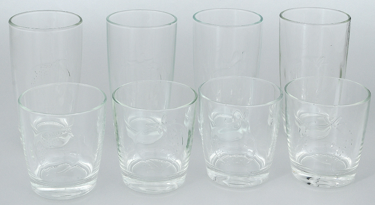 Набор стаканов Luminarc Фрути энерджи, 8 штL1656Набор Luminarc Фрути энерджи состоит из 4 высоких и 4 низких стаканов, выполненных из высококачественного стекла. Изделия подходят для воды, сока, виски, водки и других напитков. Такой набор станет прекрасным дополнением сервировки стола, подойдет для ежедневного использования и для торжественных случаев. Можно мыть в посудомоечной машине.Объем стаканов: 250; 300 мл.Диаметр стакана: 7; 7,5 см.Высота стакана: 13,5: 8,5 см.